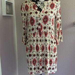 ALTAR'D STATE Boho Peasant Print Dress Pockets S